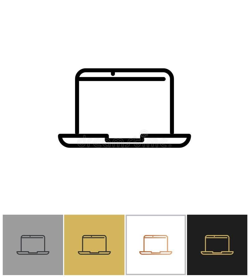 Icono del ordenador portátil, símbolo profesional del ordenador portátil stock de ilustración