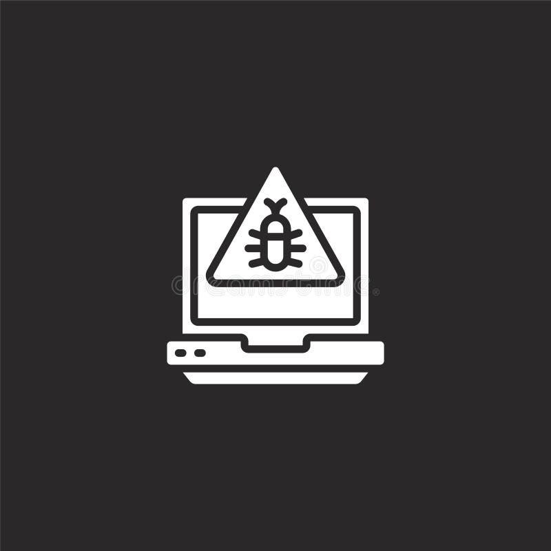 Icono del ordenador port?til Icono llenado del ordenador portátil para el diseño y el móvil, desarrollo de la página web del app  ilustración del vector