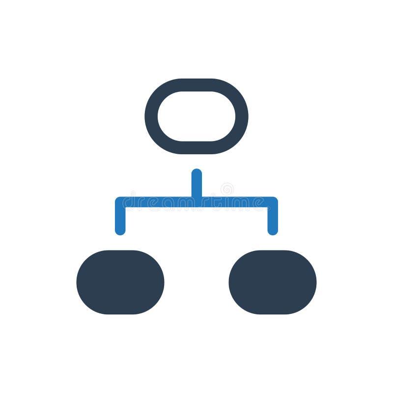 Icono del organigrama del proyecto stock de ilustración