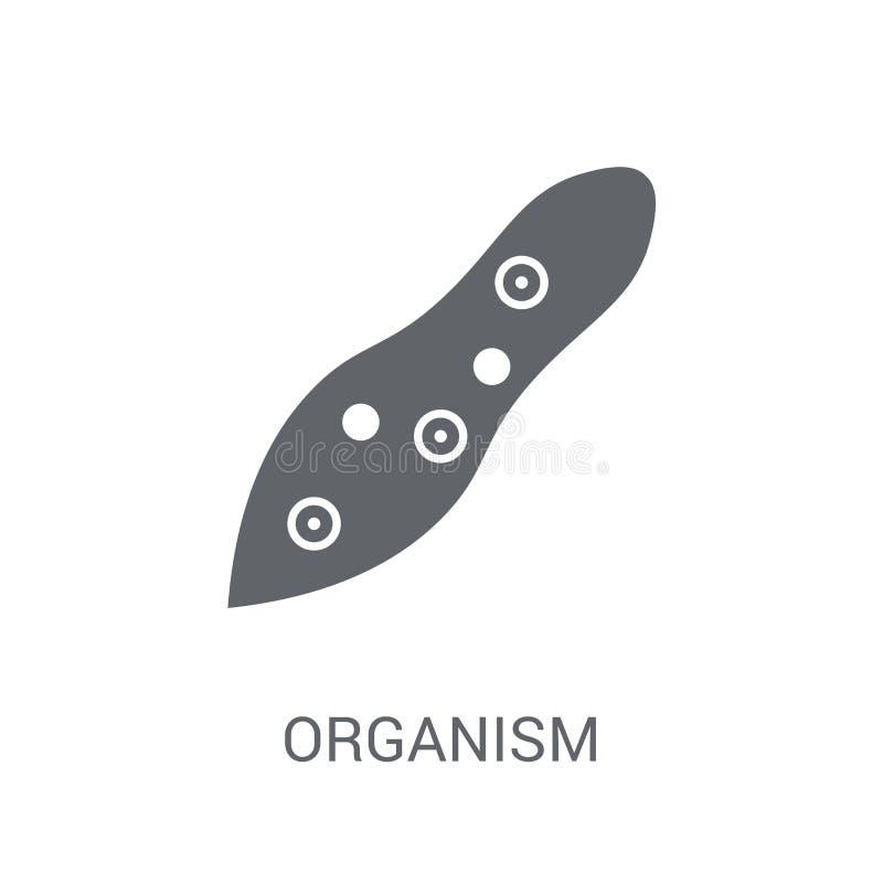 icono del organismo Concepto de moda del logotipo del organismo en el fondo blanco stock de ilustración