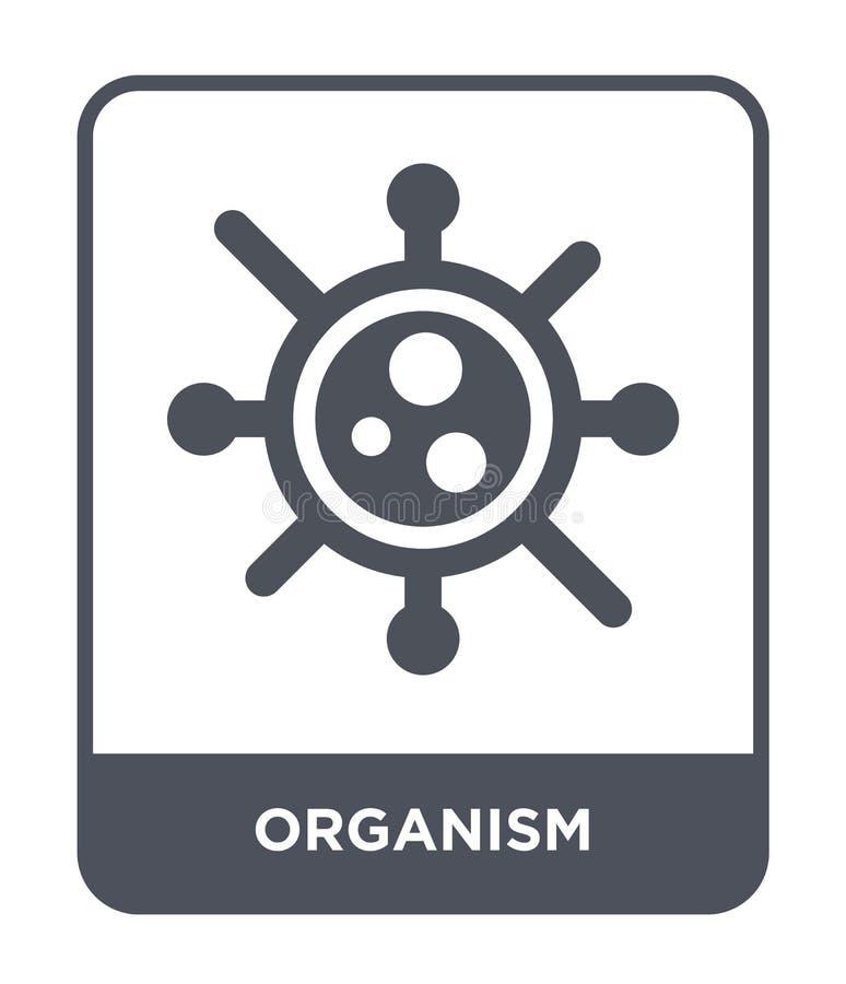 icono del organismo en estilo de moda del diseño icono del organismo aislado en el fondo blanco plano simple y moderno del icono  libre illustration