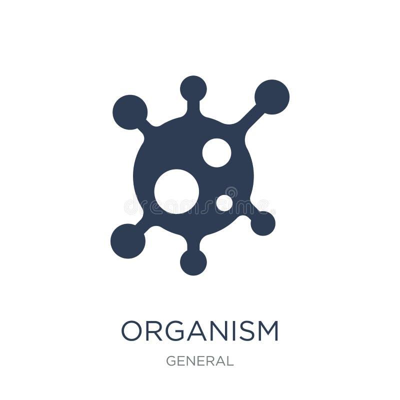 icono del organismo Icono plano de moda del organismo del vector en el backgro blanco libre illustration