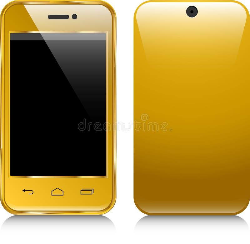 Icono del oro del teléfono libre illustration