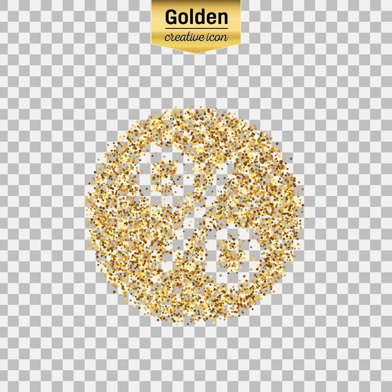 Icono del oro del vector ilustración del vector