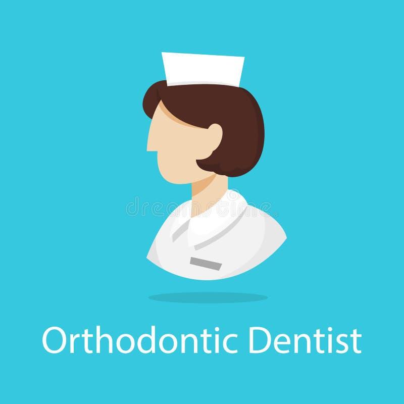 Icono del Orthodontist Una profesión del dentista Tratamiento dental libre illustration