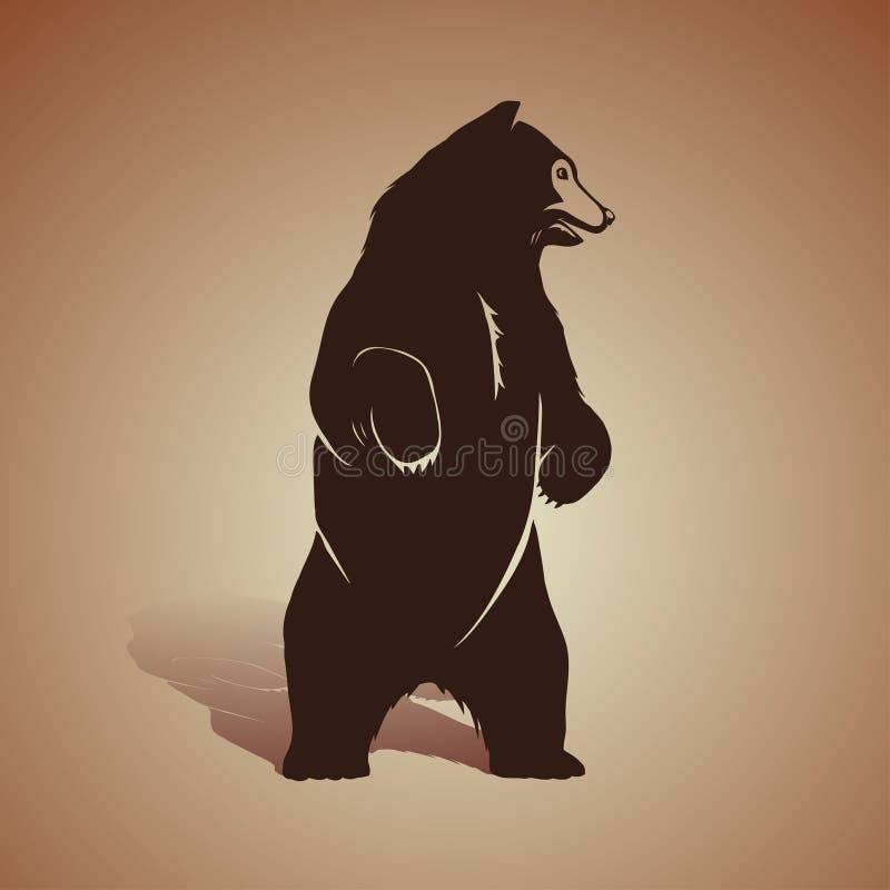Icono del oso ilustración del vector