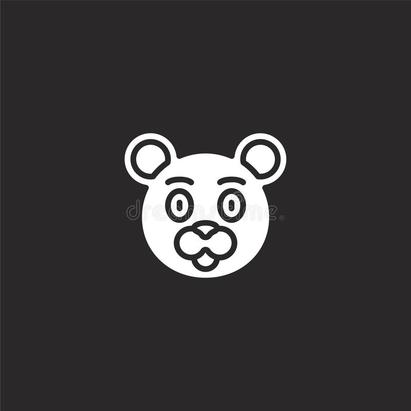 Icono del oso Icono llenado del oso para el diseño y el móvil, desarrollo de la página web del app icono del oso de la colección  stock de ilustración