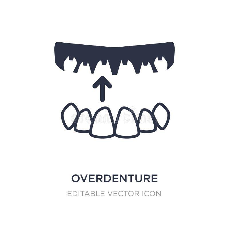 icono del overdenture en el fondo blanco Ejemplo simple del elemento del concepto del dentista stock de ilustración