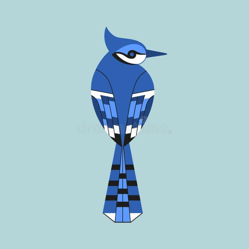 Icono del pájaro del arrendajo azul libre illustration