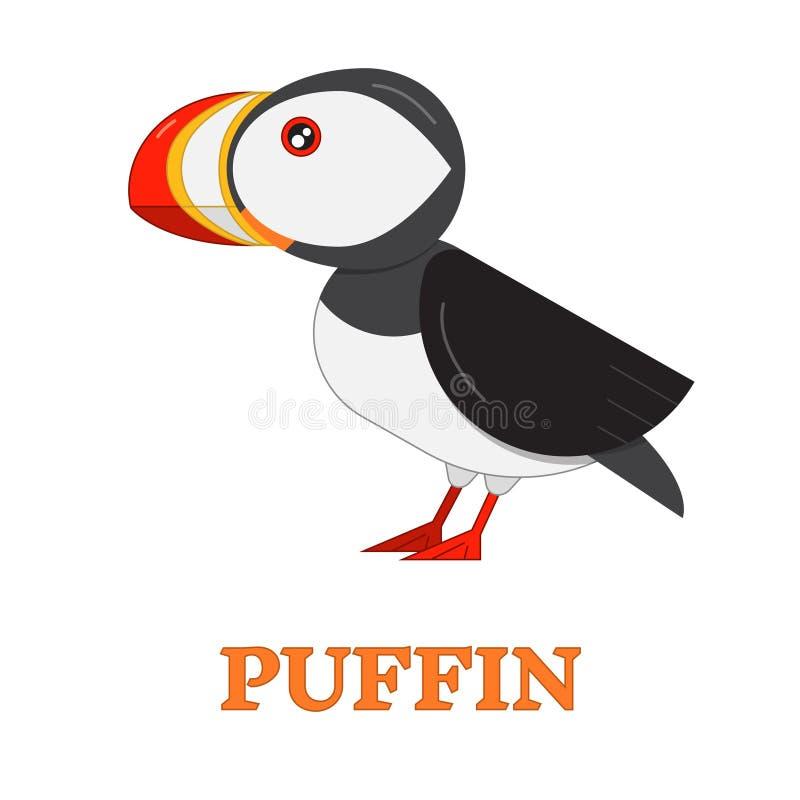 Icono del pájaro de mar del frailecillo stock de ilustración