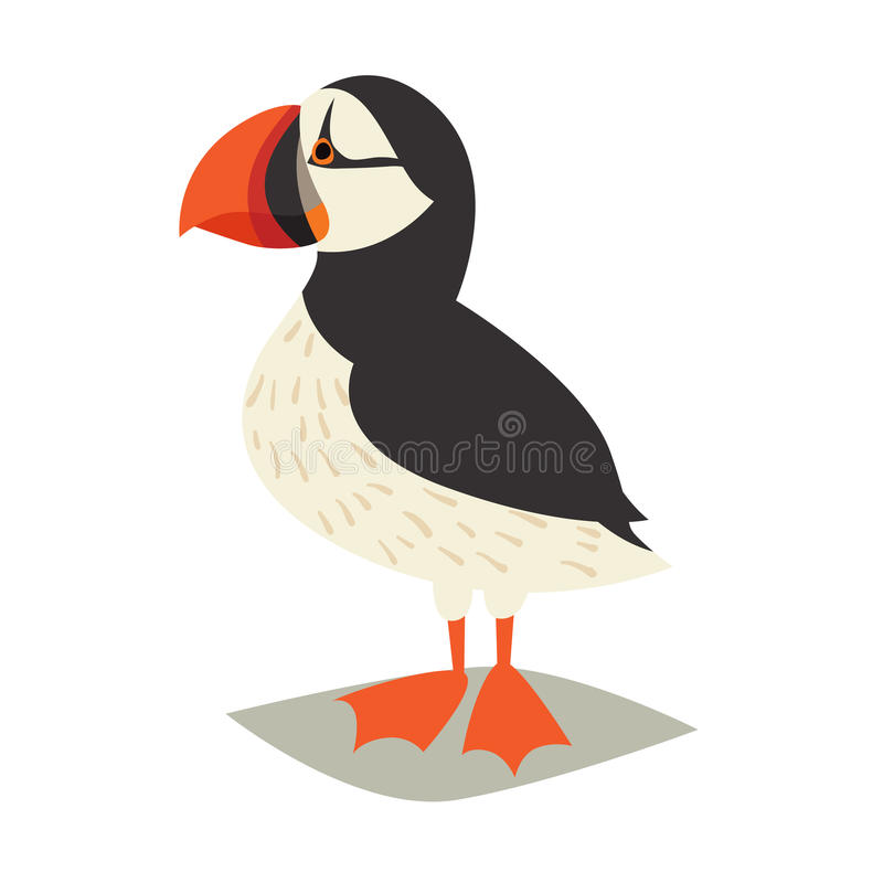 Icono del pájaro del frailecillo stock de ilustración