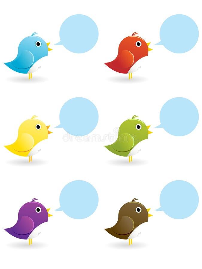 Icono del pájaro del gorjeo ilustración del vector