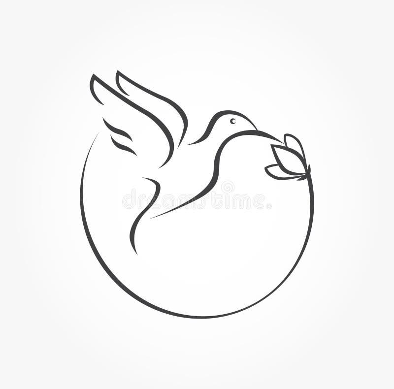 Icono del pájaro del tarareo libre illustration