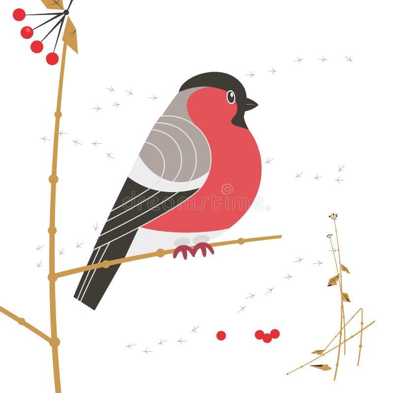 Icono del pájaro del invierno libre illustration