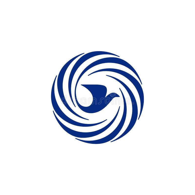 Icono del pájaro y de la jerarquía ilustración del vector