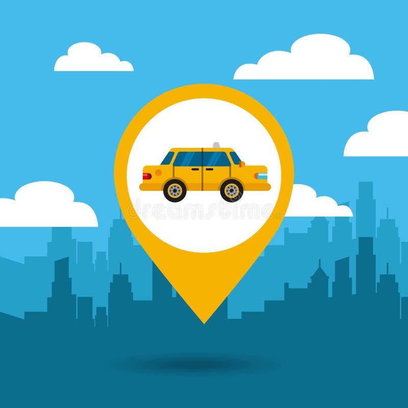 icono del público del servicio del taxi ilustración del vector