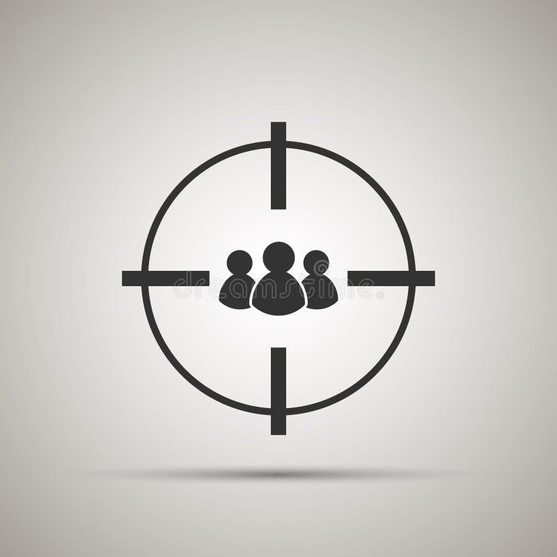 Icono del público objetivo ilustración del vector