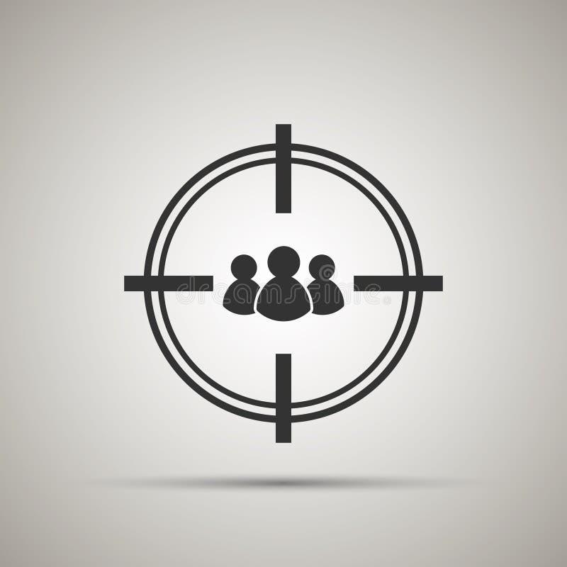 Icono del público objetivo stock de ilustración