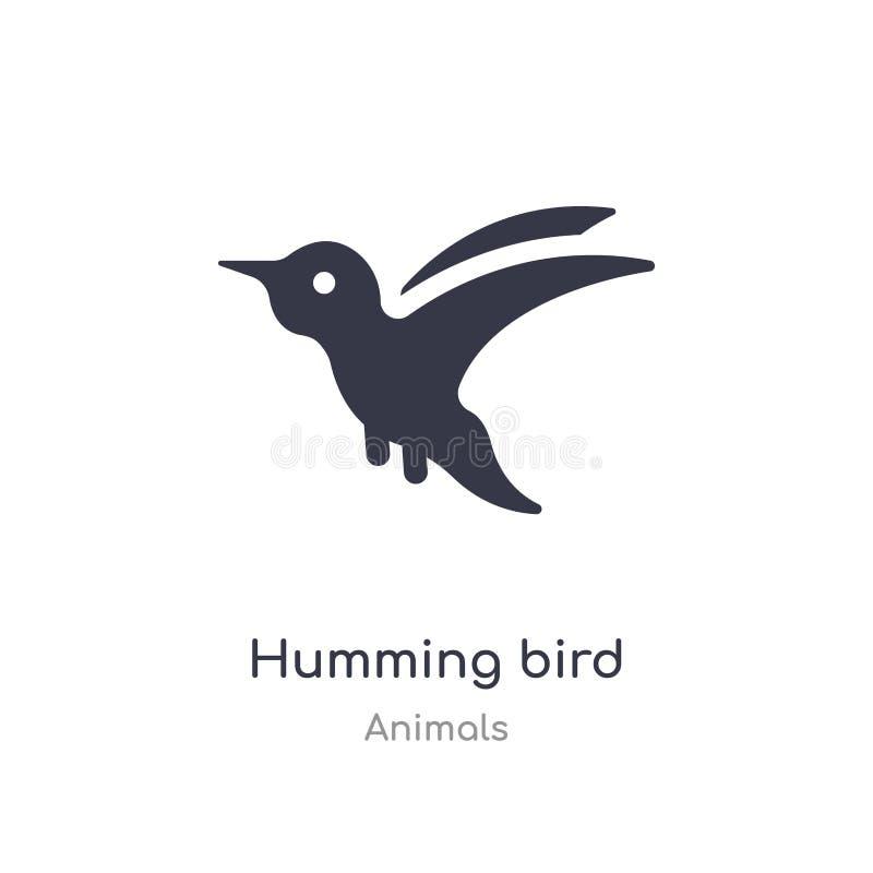 Icono del p?jaro del tarareo ejemplo aislado del vector del icono del pájaro del tarareo de la colección de los animales editable libre illustration