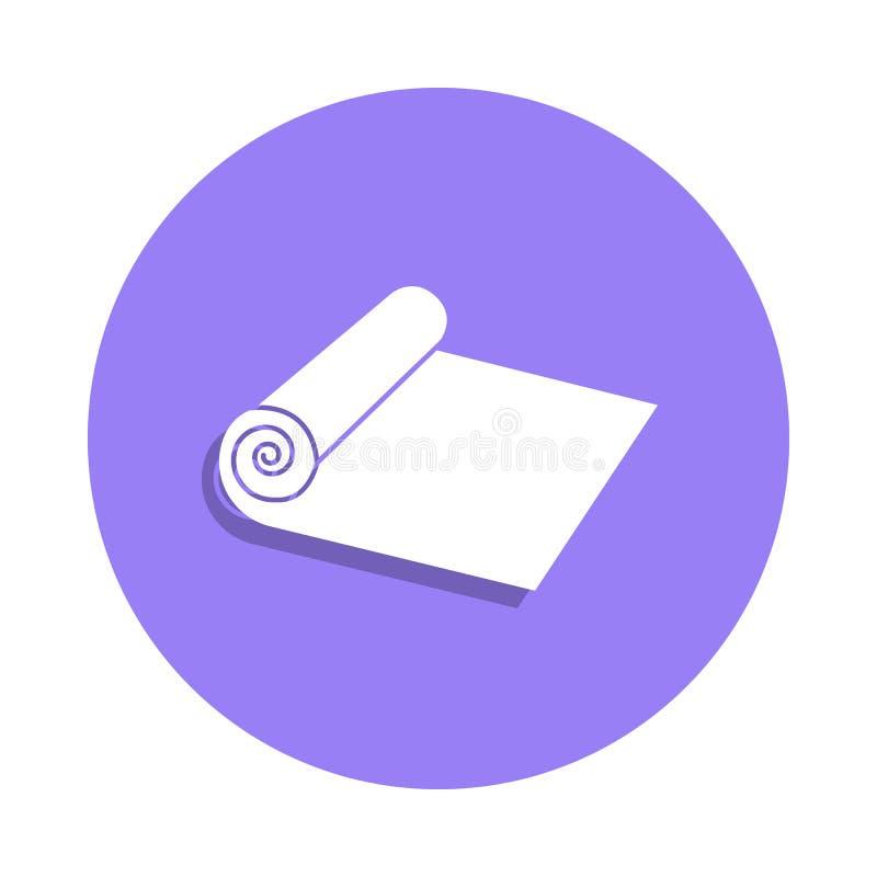 icono del paño del rollo en estilo de la insignia Uno del icono hecho a mano de la colección se puede utilizar para UI, UX ilustración del vector