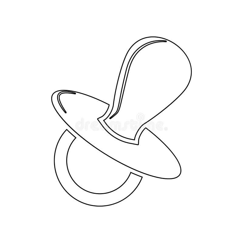 Icono del pacificador Elemento del beb? para el concepto y el icono m?viles de los apps de la web Esquema, l?nea fina icono para  stock de ilustración