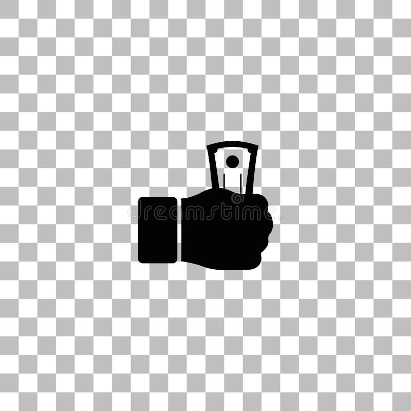 Icono del pago plano ilustración del vector