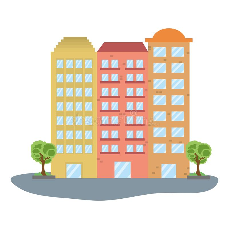 Icono del paisaje de la ciudad libre illustration