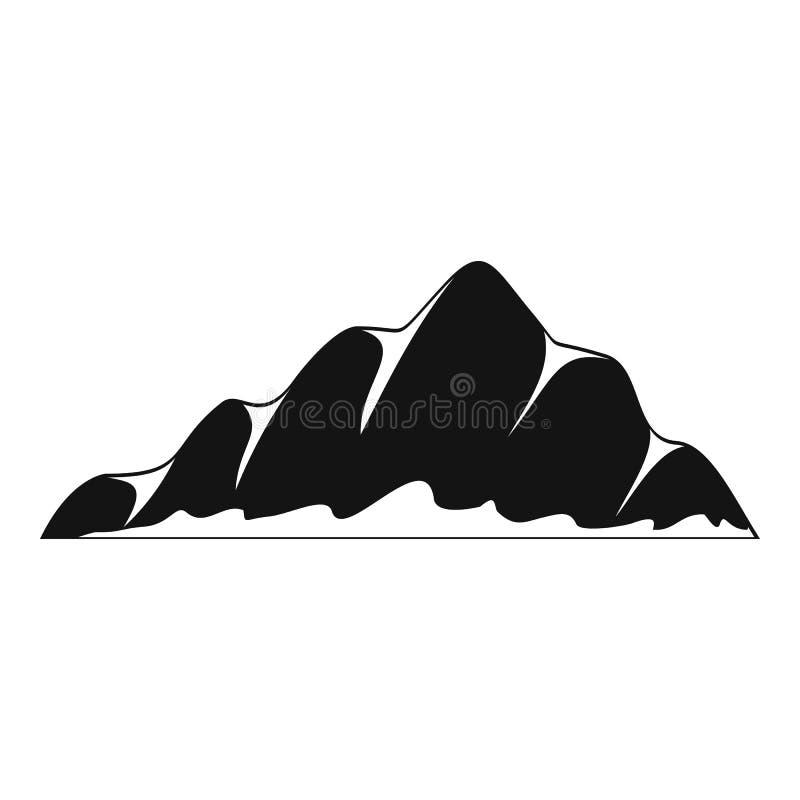 Icono del paisaje de la montaña, estilo simple ilustración del vector