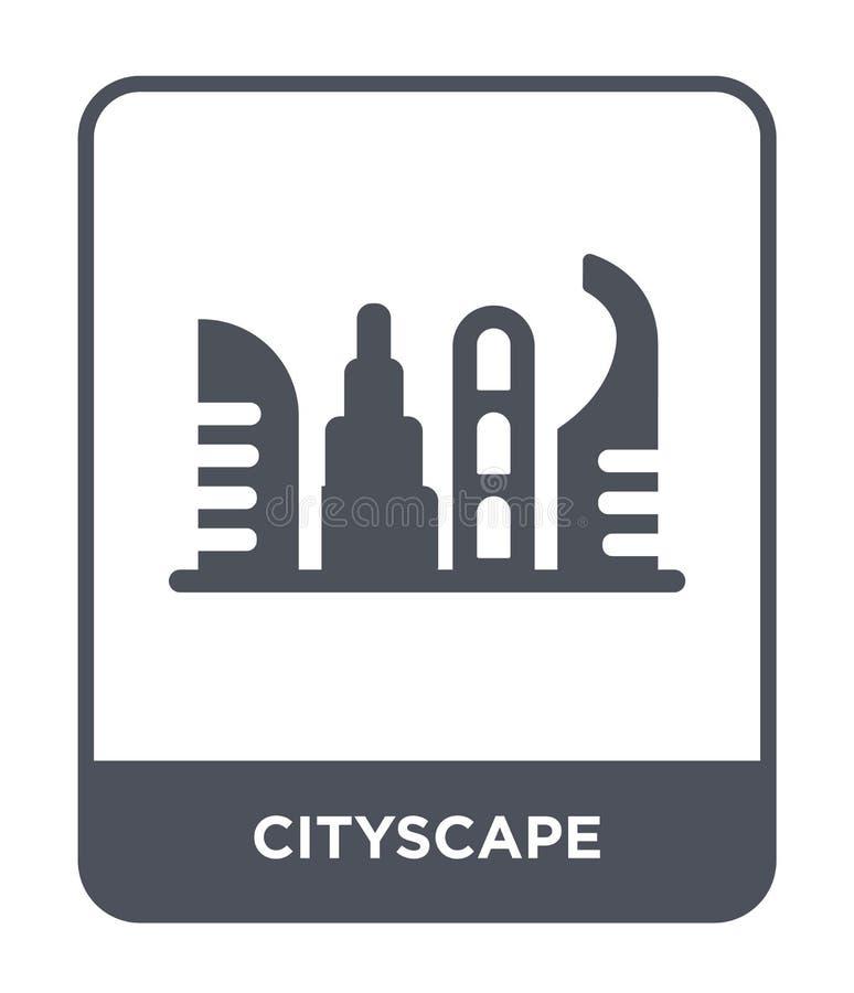 icono del paisaje urbano en estilo de moda del diseño icono del paisaje urbano aislado en el fondo blanco plano simple y moderno  ilustración del vector