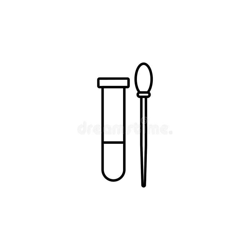 icono del palillo del tubo de ensayo y de la muestra Elemento del icono del crimen y del castigo para los apps móviles del concep libre illustration