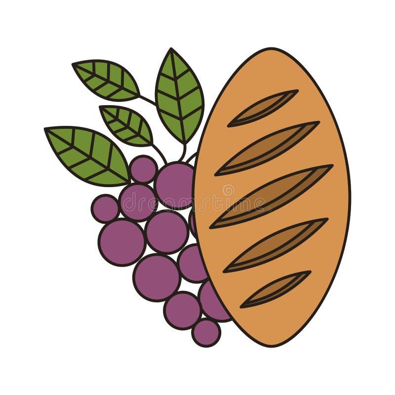 Icono del pan y del vino libre illustration