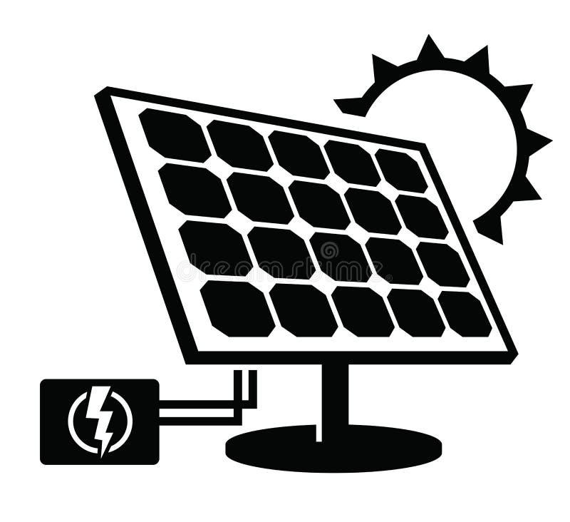 Icono del panel solar ilustración del vector