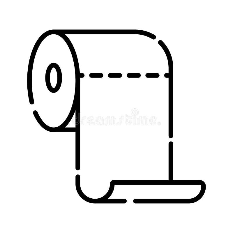 Icono del papel higiénico stock de ilustración