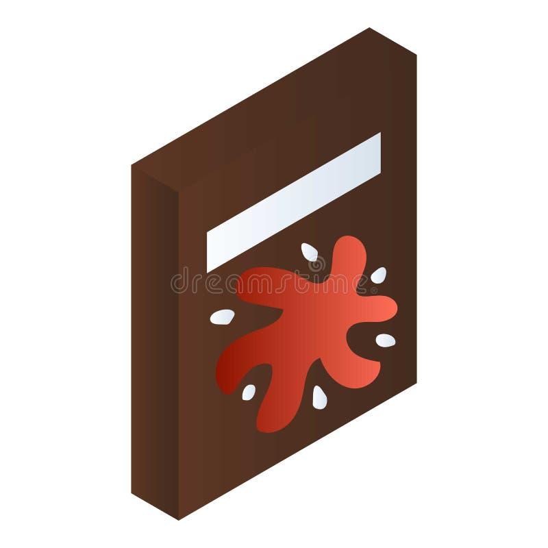 Icono del paquete del bocado, estilo isométrico stock de ilustración