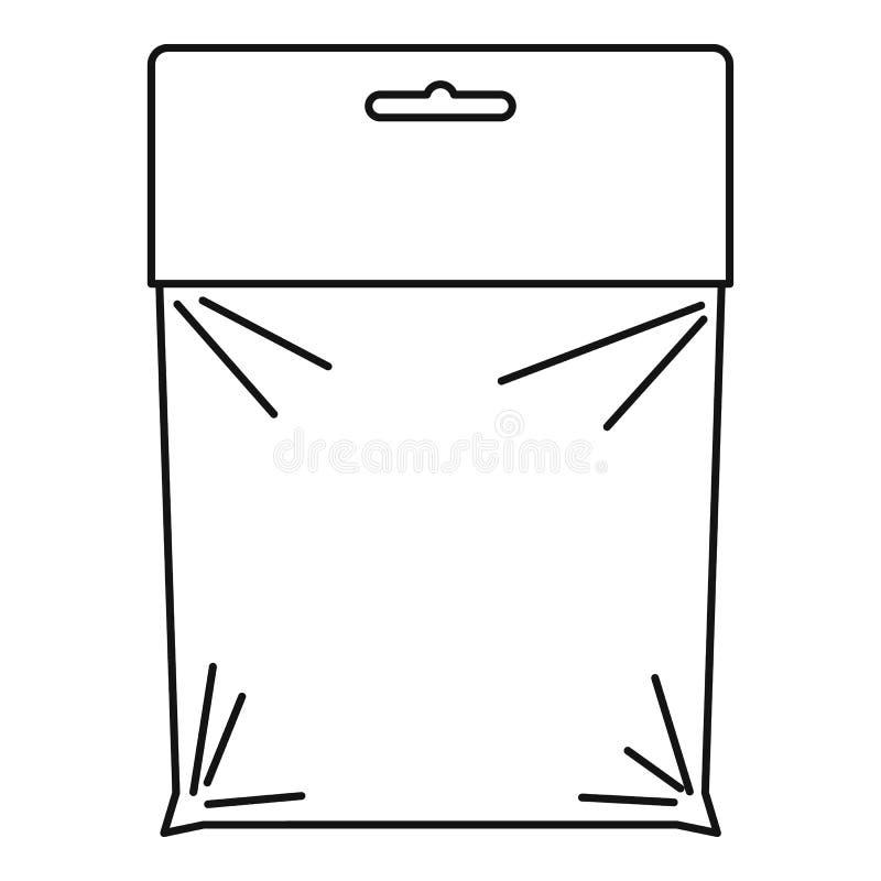 Icono del paquete, estilo del esquema stock de ilustración