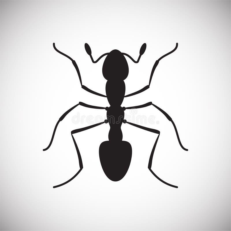 Icono del parásito en el fondo blanco para el gráfico y el diseño web, muestra simple moderna del vector Concepto del Internet Sí ilustración del vector