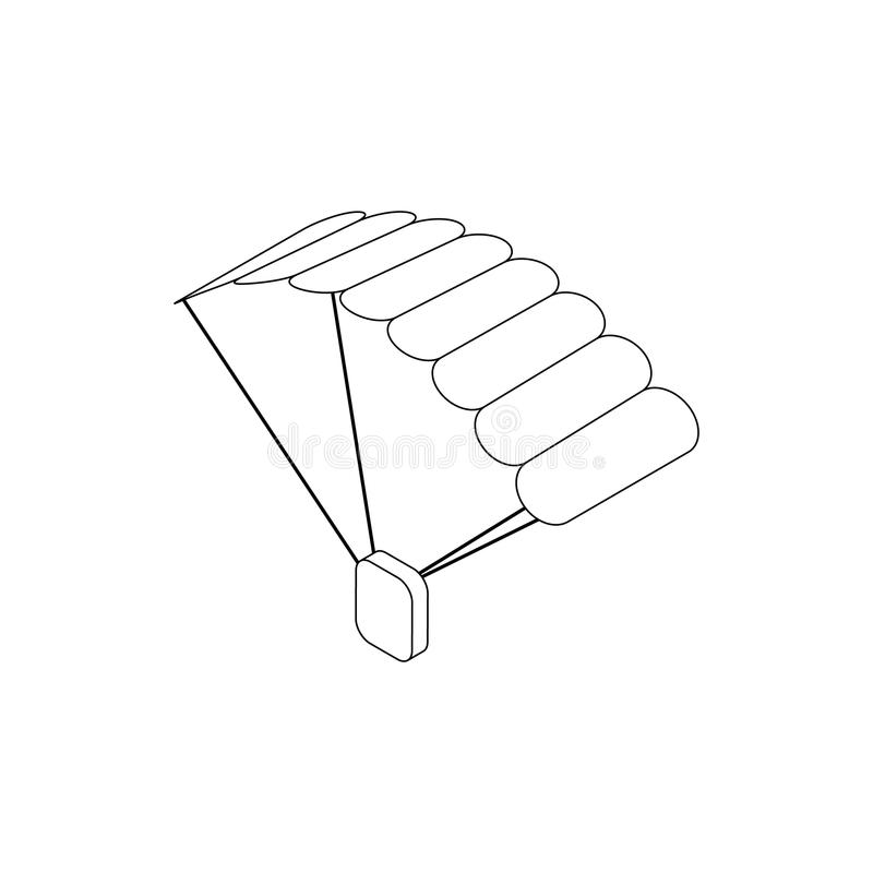 Icono del paracaídas, estilo isométrico 3d libre illustration
