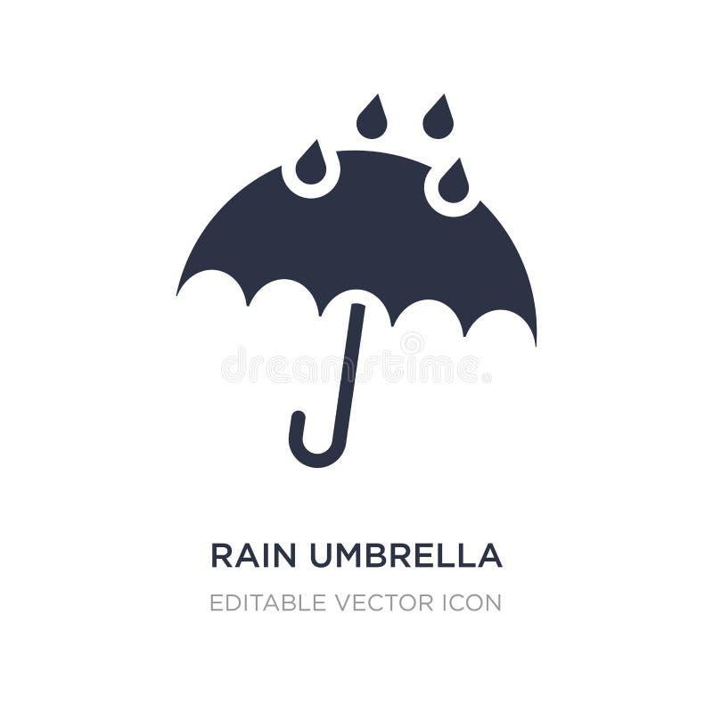 icono del paraguas de la lluvia en el fondo blanco Ejemplo simple del elemento del concepto del tiempo ilustración del vector