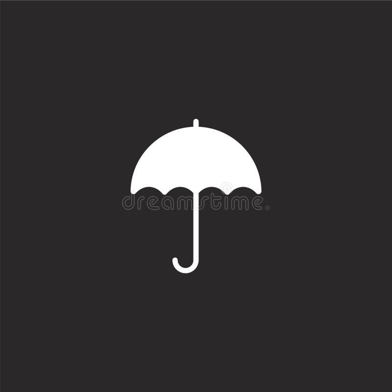 Icono del paraguas Icono llenado del paraguas para el diseño y el móvil, desarrollo de la página web del app icono del paraguas d stock de ilustración