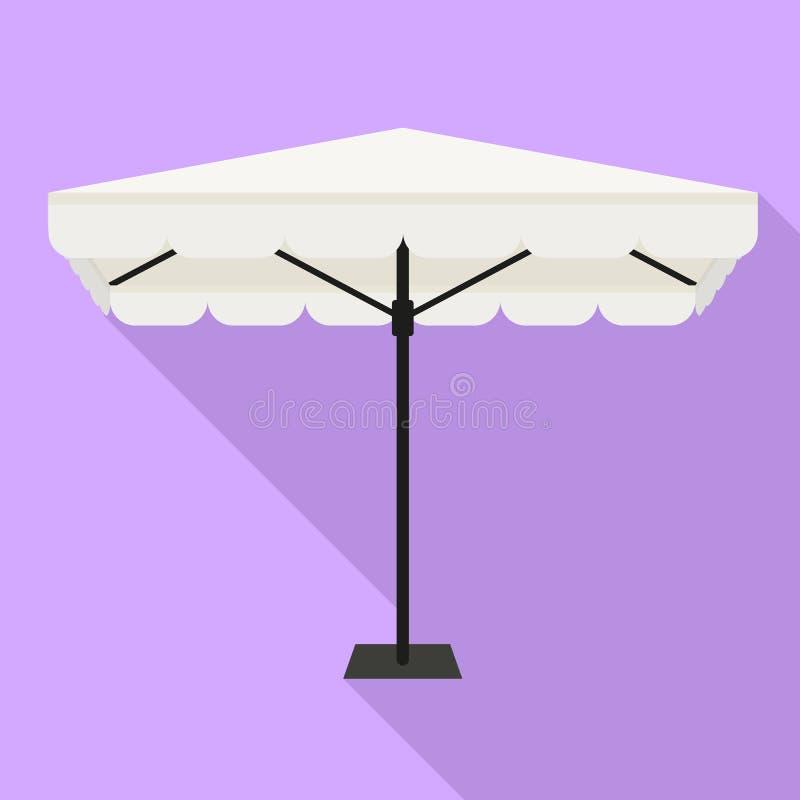 Icono del paraguas del parasol, estilo plano stock de ilustración