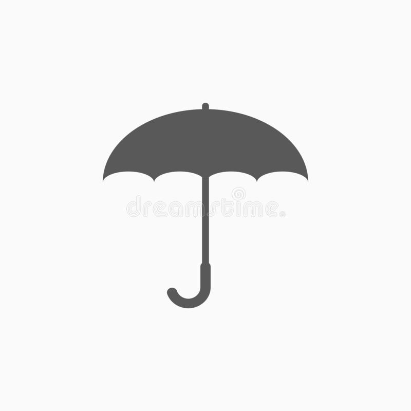 Icono del paraguas, sombrilla, borde, paraguas stock de ilustración