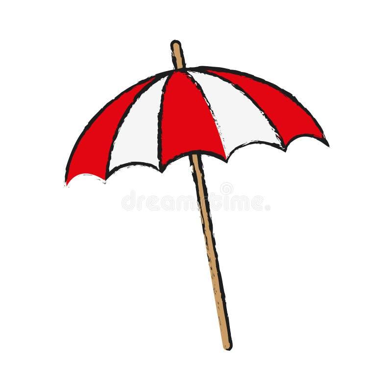 Icono del parasol de la playa stock de ilustración