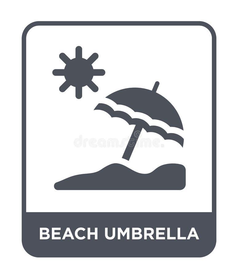 icono del parasol de playa en estilo de moda del diseño icono del parasol de playa aislado en el fondo blanco icono del vector de stock de ilustración