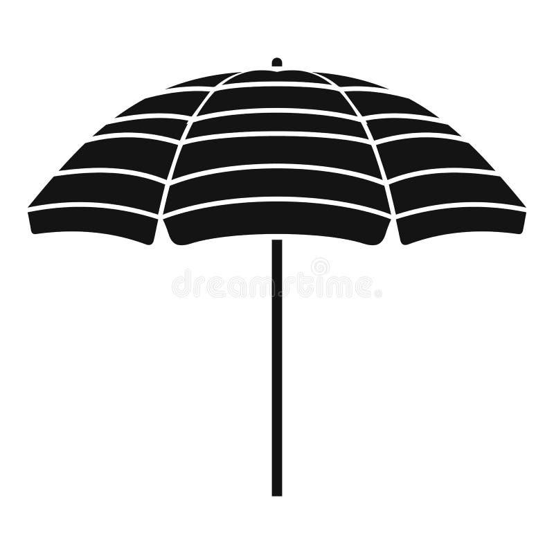 Icono del parasol de playa, estilo simple ilustración del vector