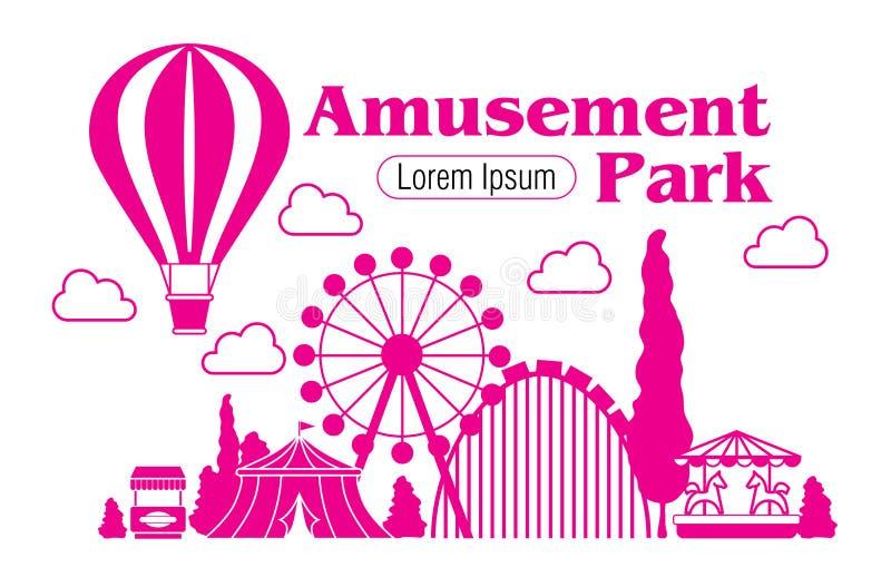 Icono del parque de atracciones libre illustration