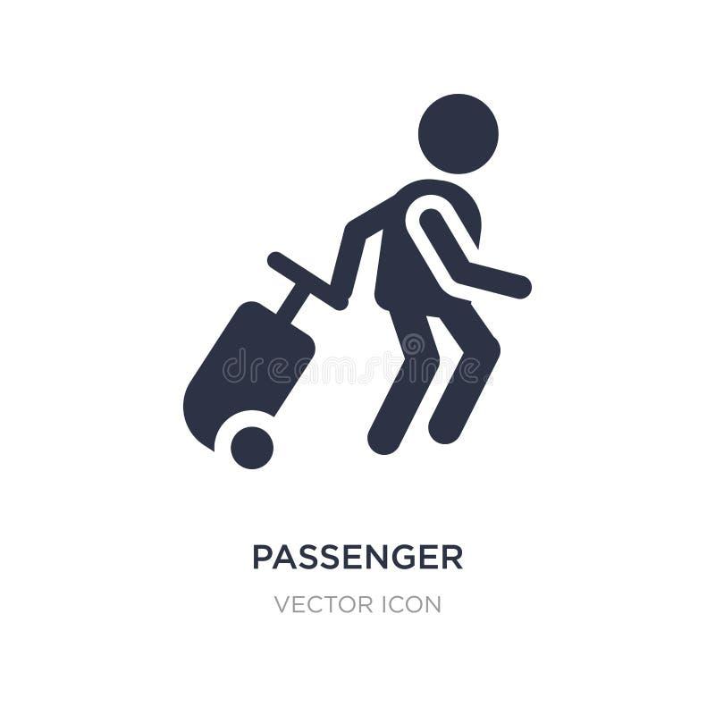 icono del pasajero en el fondo blanco Ejemplo simple del elemento del concepto de la gente ilustración del vector
