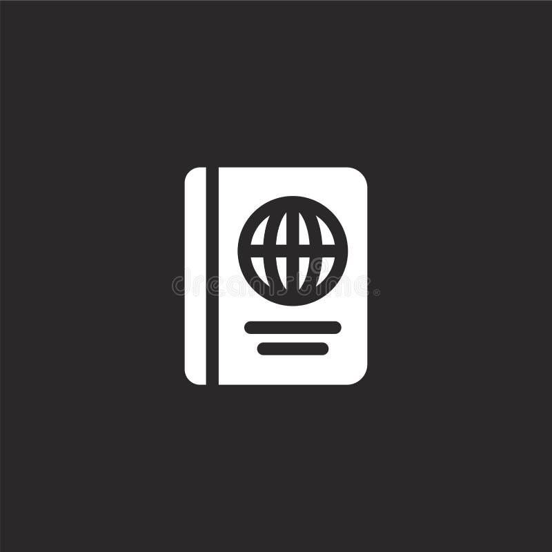 Icono del pasaporte Icono llenado del pasaporte para el diseño y el móvil, desarrollo de la página web del app icono del pasaport ilustración del vector