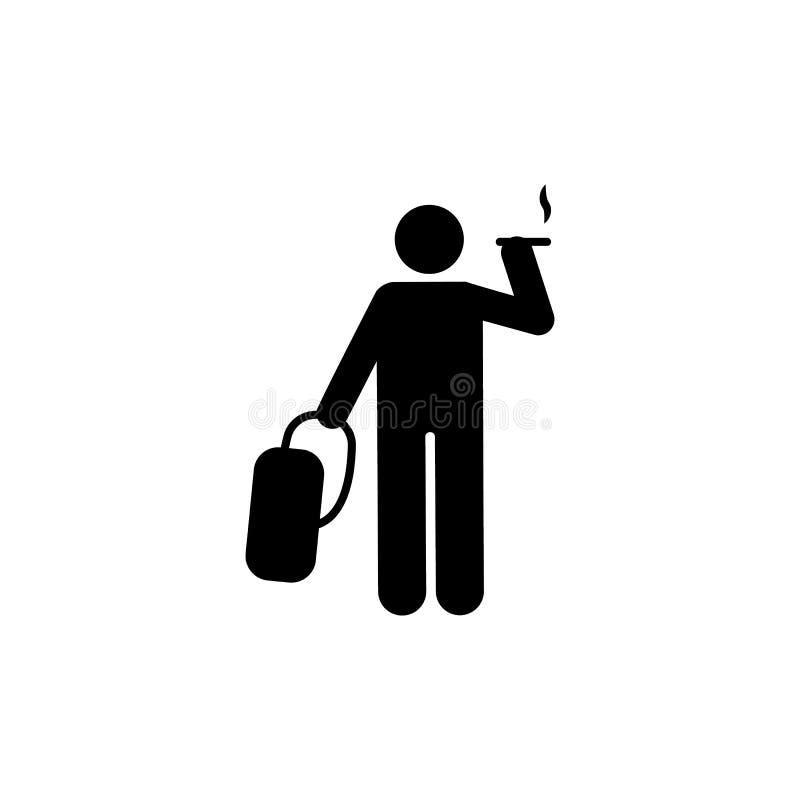 Icono del paseo del humo del bolso del estudiante Elemento de nuevo al icono del ejemplo de la escuela Muestras e icono para los  libre illustration