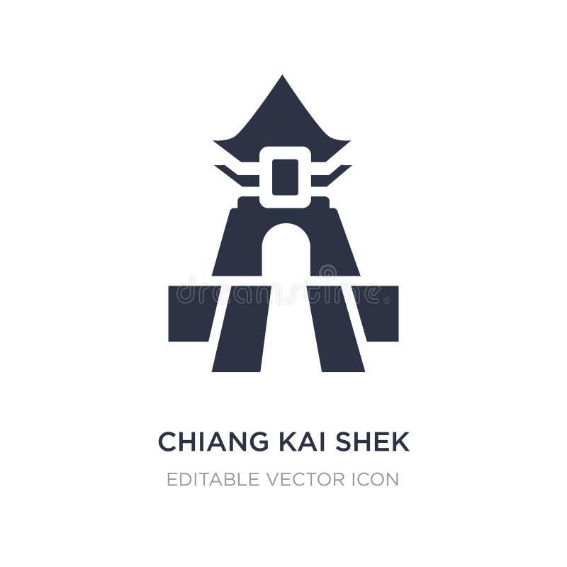 icono del pasillo conmemorativo de Chiang Kai-shek en el fondo blanco Ejemplo simple del elemento del concepto de los monumentos ilustración del vector