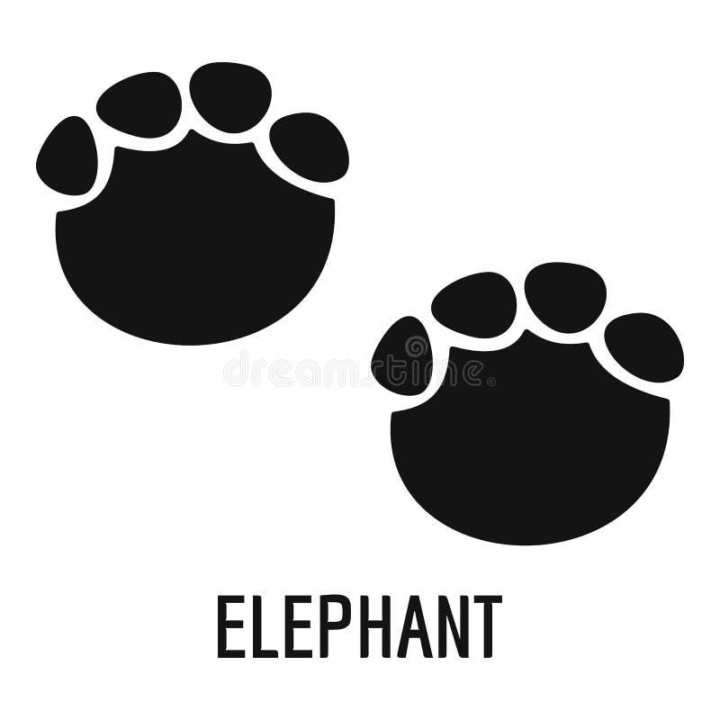 Icono del paso del elefante, estilo simple libre illustration